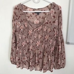 Babydoll Style Floral top American Eagle